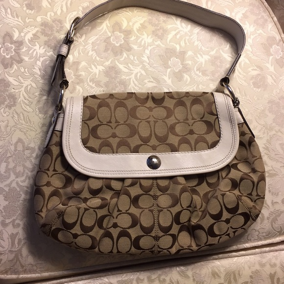 Coach Handbags - Coach purse handbag with white strap.